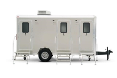 Rental store for PORTABLE 3 UNIT RESTROOM TRAILER in Lexington KY